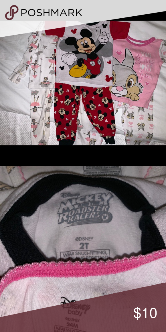 Mickey Baby Bunny Dancer Jammies 3 Pair Baby Bunnies Disney Pajamas Mickey