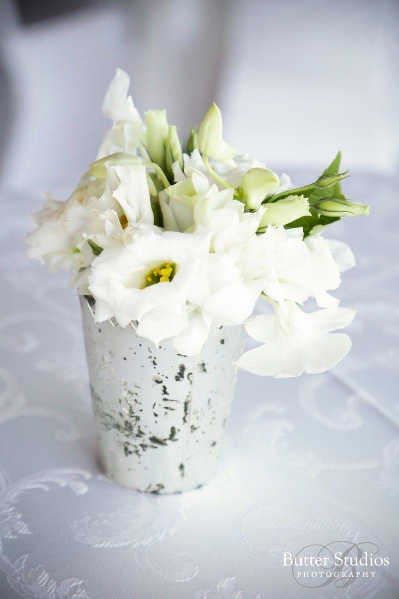 Small White Fl Wedding Reception Center Pieces