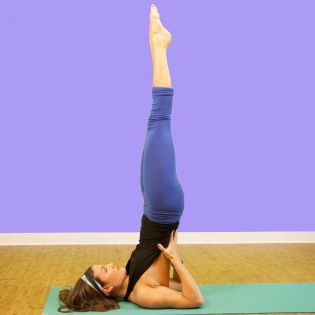 "a great way to try ""shoulderstand pose"" if you are new to"