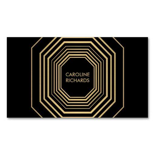 Glam Deco Jewelry Design Fashion Boutique No 1 Business Card Card