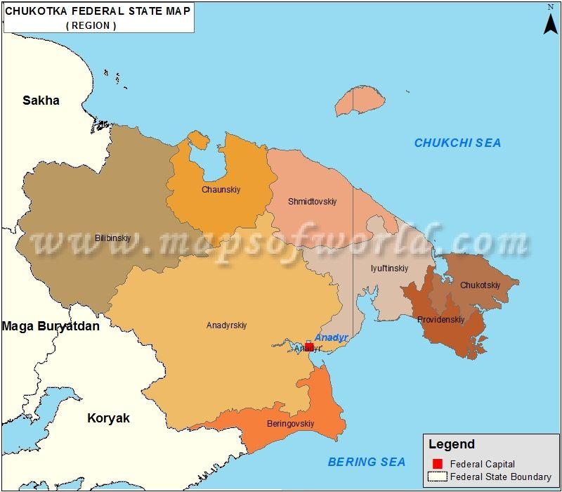 Russia Map Capital