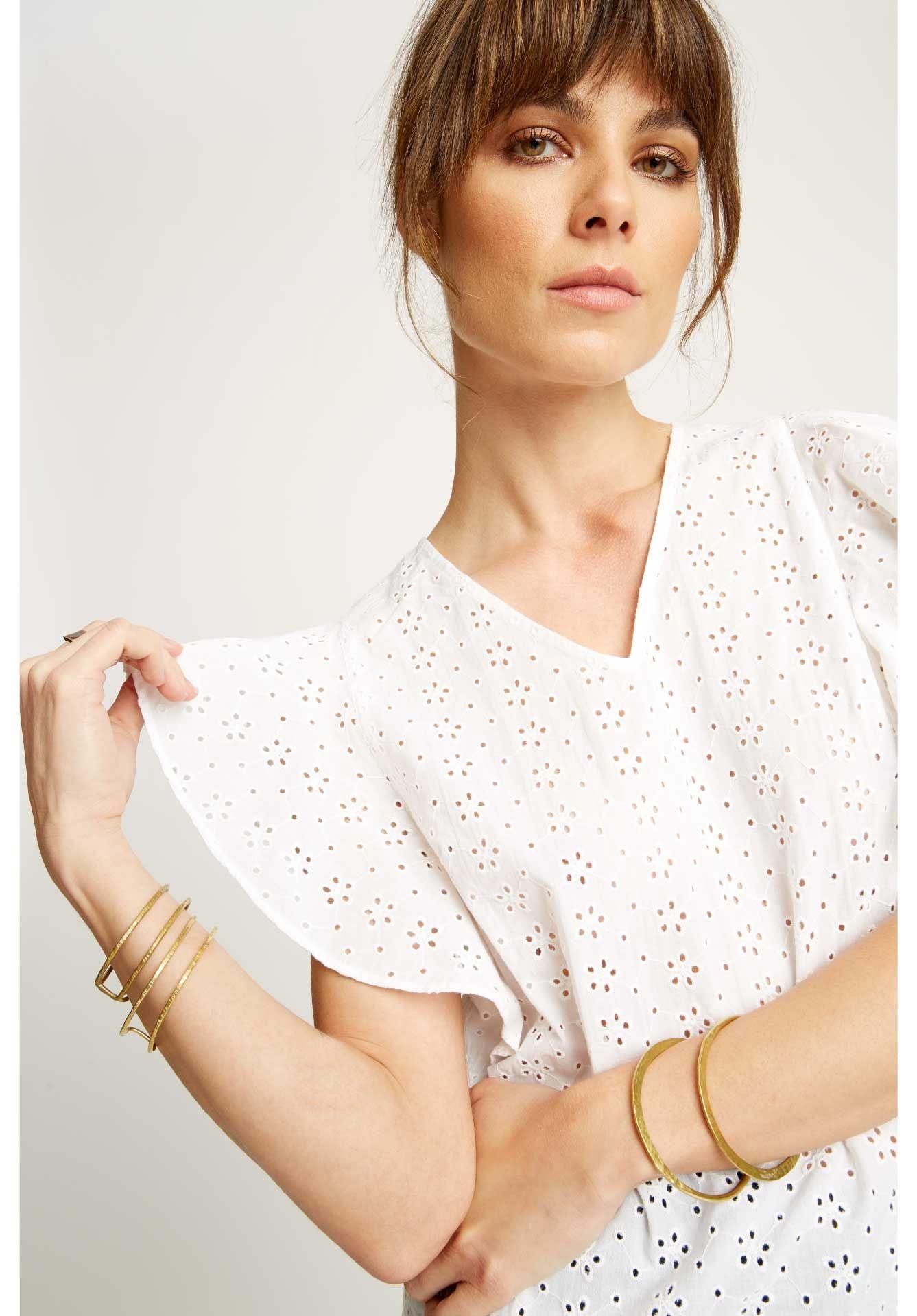 Lynn Broderie Top (met afbeeldingen) Mode