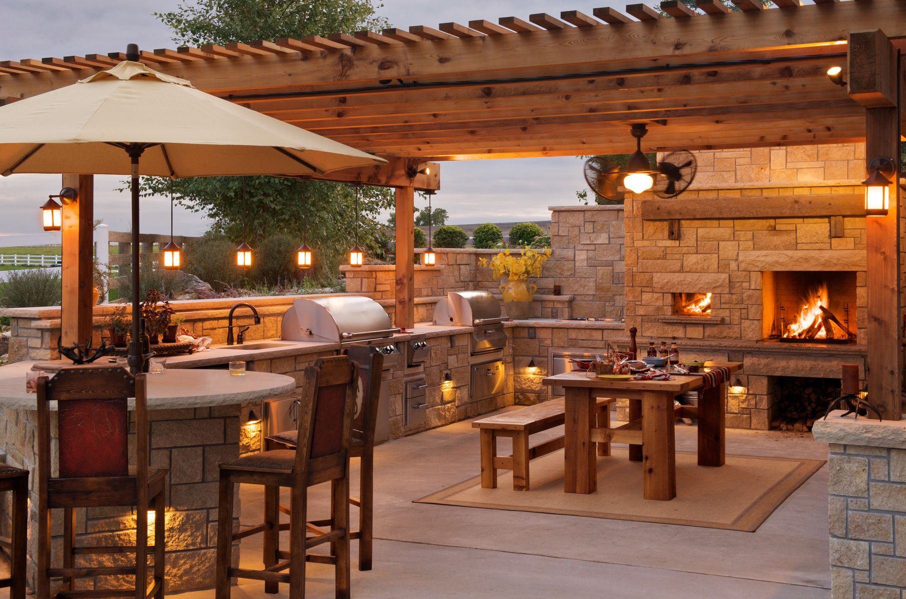 outdoor kitchens pergola with kitchen bar design Outofhome
