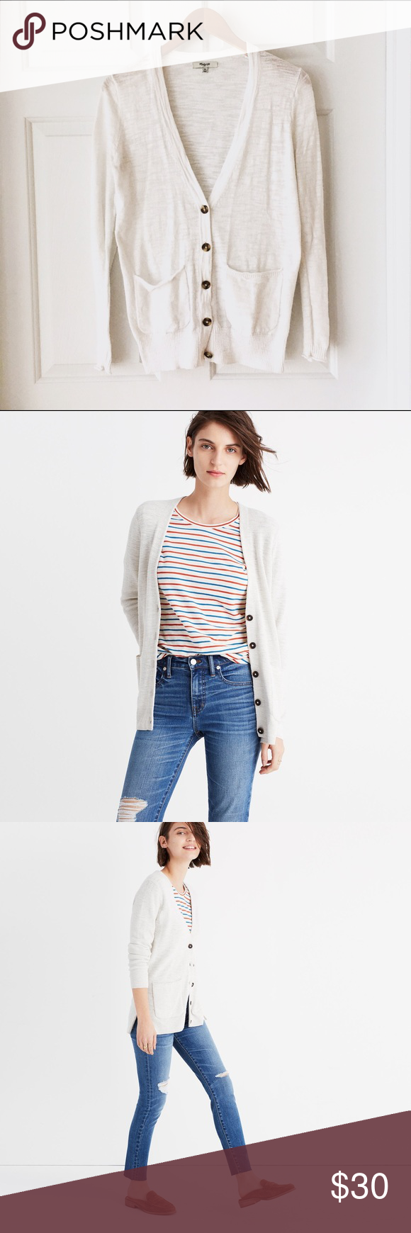 Madewell Spring-weight Cardigan | Sweater cardigan, Warm and Madewell