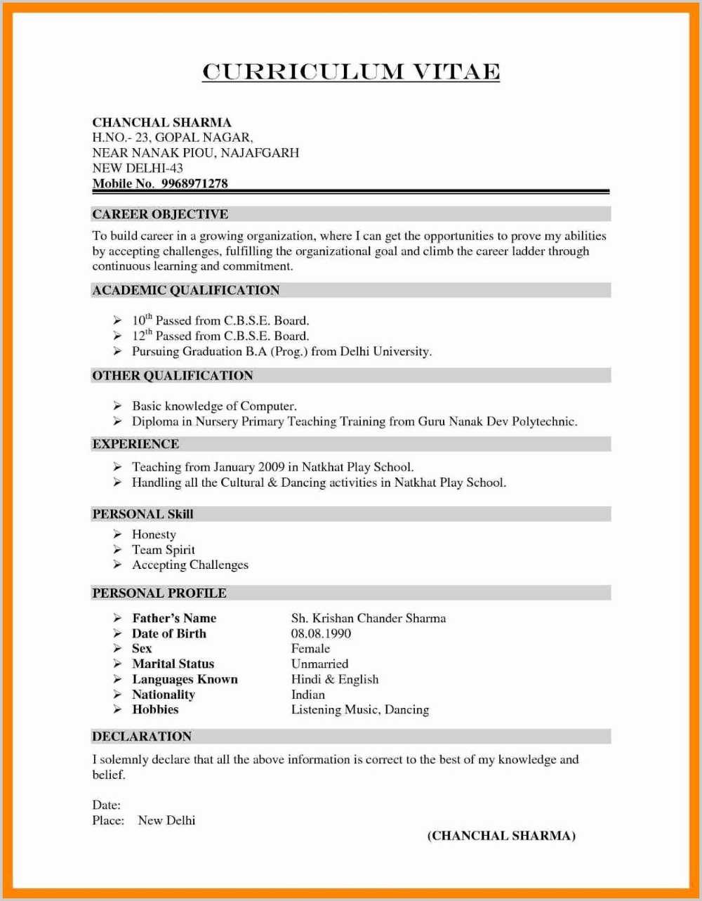 Teacher Resume Templates 2019 Free Teacher Resume Templates Word 2020 Teacher Resume Te Job Resume Format Teacher Resume Template Free Resume Format Download