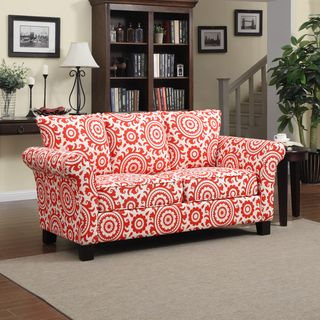 @Overstock   Portfolio Provant Flared Arm Sunrise Red Medallion Sofa    Update The Look Of