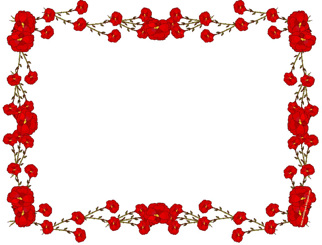 Free digital faux vintage flower frame blumenrahmen freebies meinlilapark diy printables for Flower border ideas