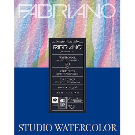 Fabriano Studio Watercolor Pads Hot Press 9 X 12 140 Lb 50