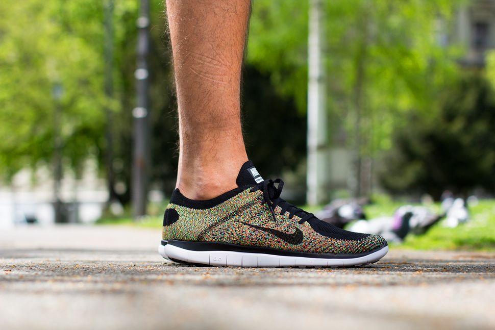 newest 5f82f a9b94 On Feet  Nike Free Flyknit 4.0  Multicolor
