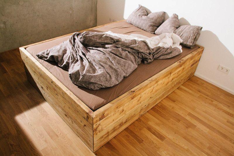 Massivholz Bett Mit Riesigen Schubladen Von Bjornkarlssonfurniture Auf Dawanda Com Bett Bett Mit Schubladen Schubladen