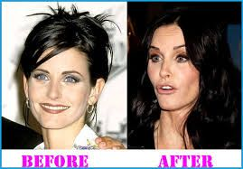 Courteney cox then and after