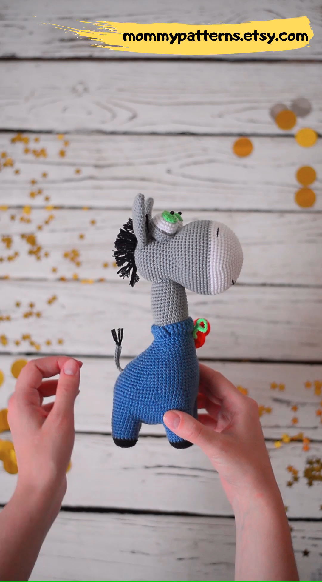 Photo of Crochet pattern Donkey / Amigurumi pattern / Crochet pattern toy Donkey