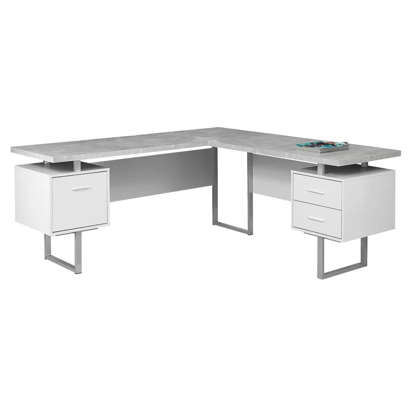 Sova 3 Drawer L Shape Executive Desk With Images Modern Desk
