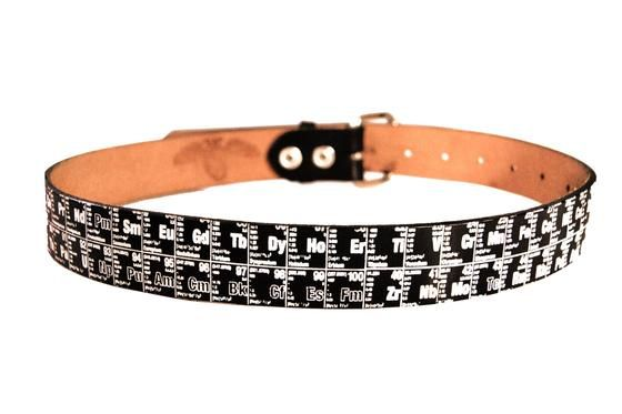 Periodic Table Belt - Periodic Table of Elements Printed Leather Belt