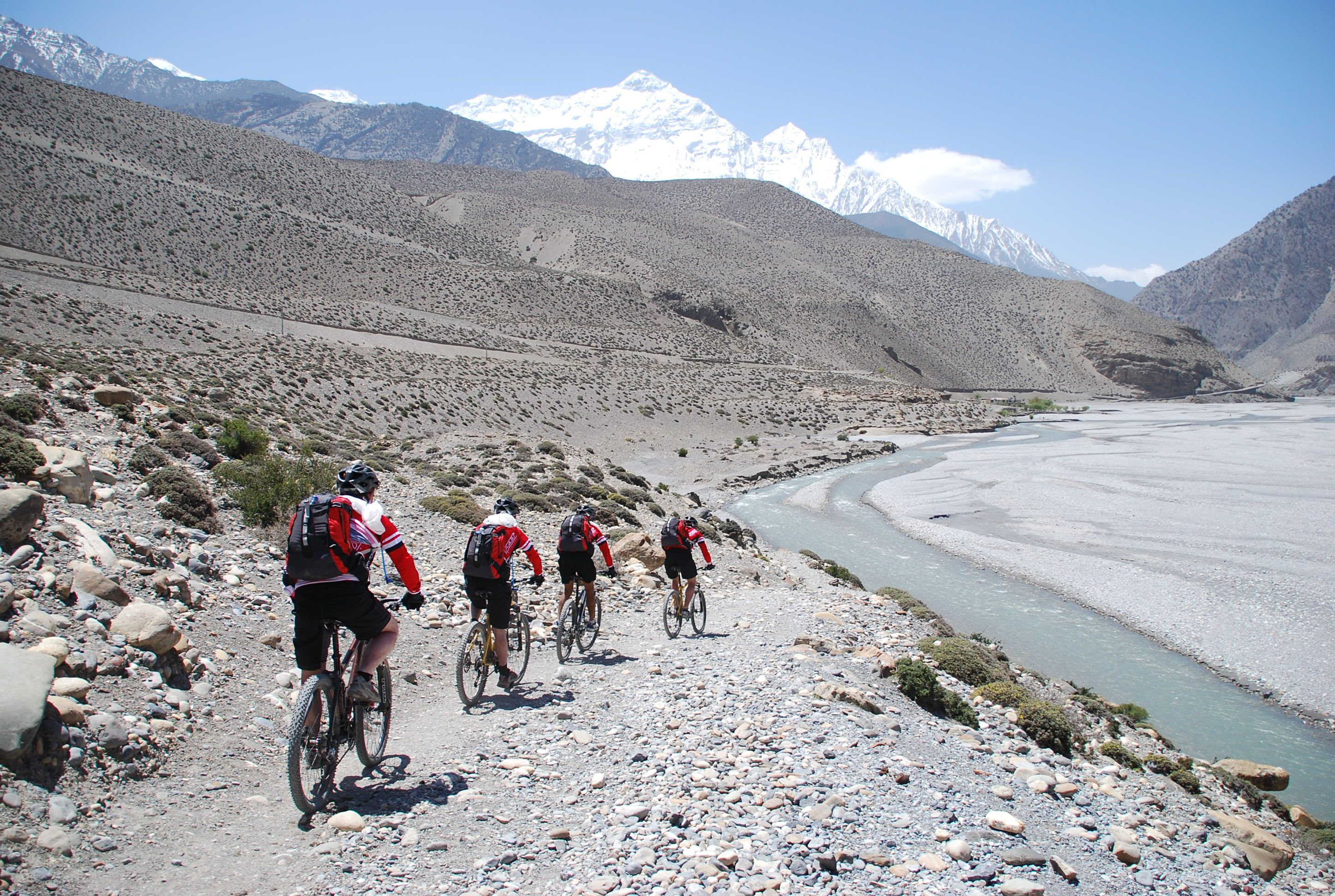 Himalaya Halle Jomsom Is In The Heart Of The Himalaya And Offers Some Spectacular Trails For Mountain Bikers. Pedaling Up Between The Nil… | Cycling Tour, Adventure Travel, Travel