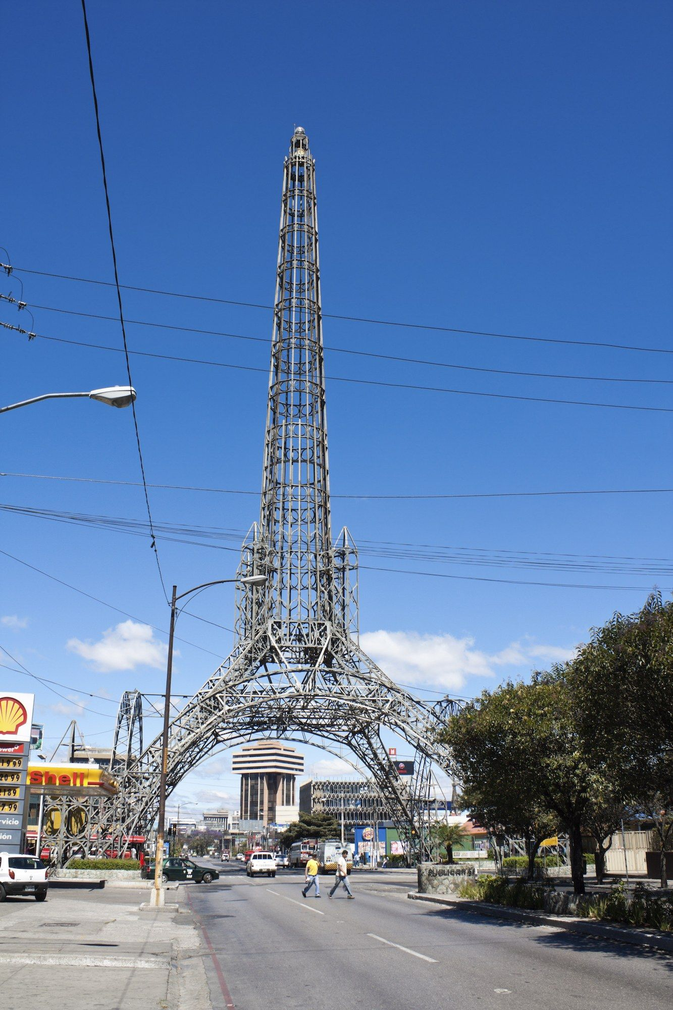 Eiffel Tower Replicas Located Outside Of Paris