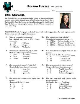 Counting Numbers 1-100 Worksheet Excel Person Puzzle  Bar Graphs  Erin Gruwell Worksheet  Bar Graphs  Plotting Worksheets Pdf with Sensory Detail Worksheet Excel Person Puzzle  Bar Graphs  Erin Gruwell Worksheet Grade 3 Printable Worksheets