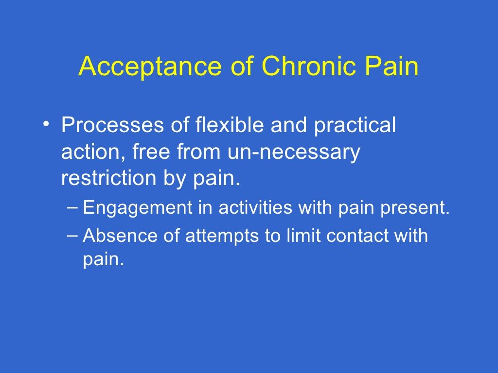 New Directions In The Psychology Of Chronic Pain