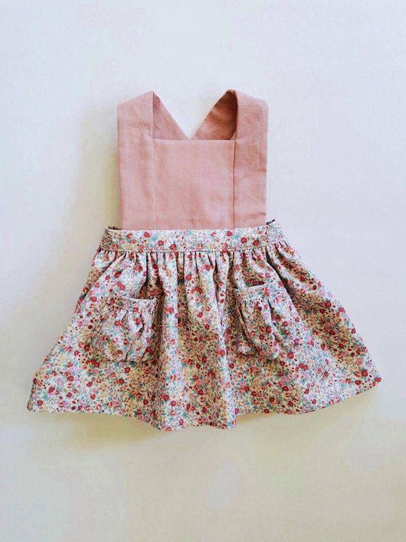 Toddler Pinafore Dress - Toddler Dress - Vintage Girls Dress ...