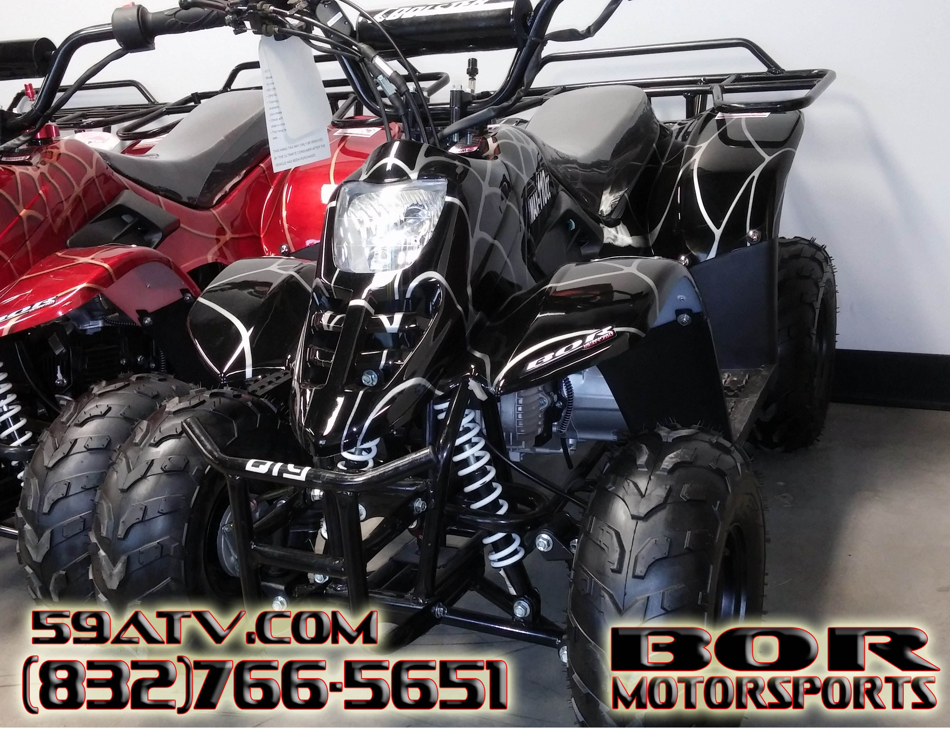 Black Spiderman 110cc Beginner Kids 4 Wheeler. This Kids ATV comes ...