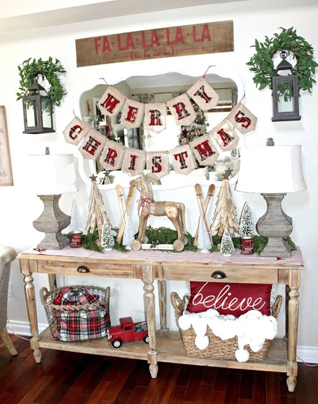 71 Incredible Rustic Farmhouse Christmas Decoration ...