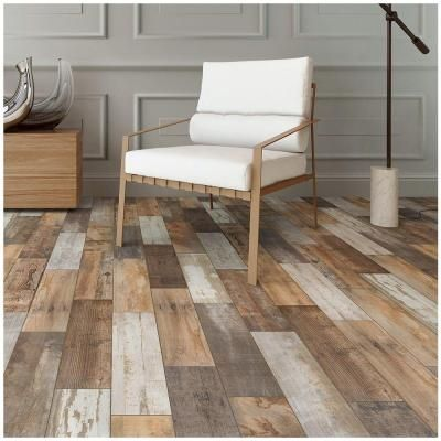 Marazzi Montagna Wood Vintage Chic 6 In X 24 Porcelain Floor And Wall Tile 14 53 Sq Ft Case