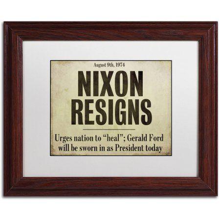 Trademark Fine Art Nixon Canvas Art by Color Bakery White