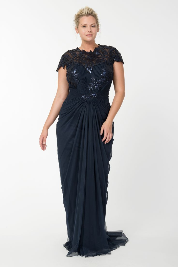 Plus size evening gowns make the bigger woman sophisticated ...