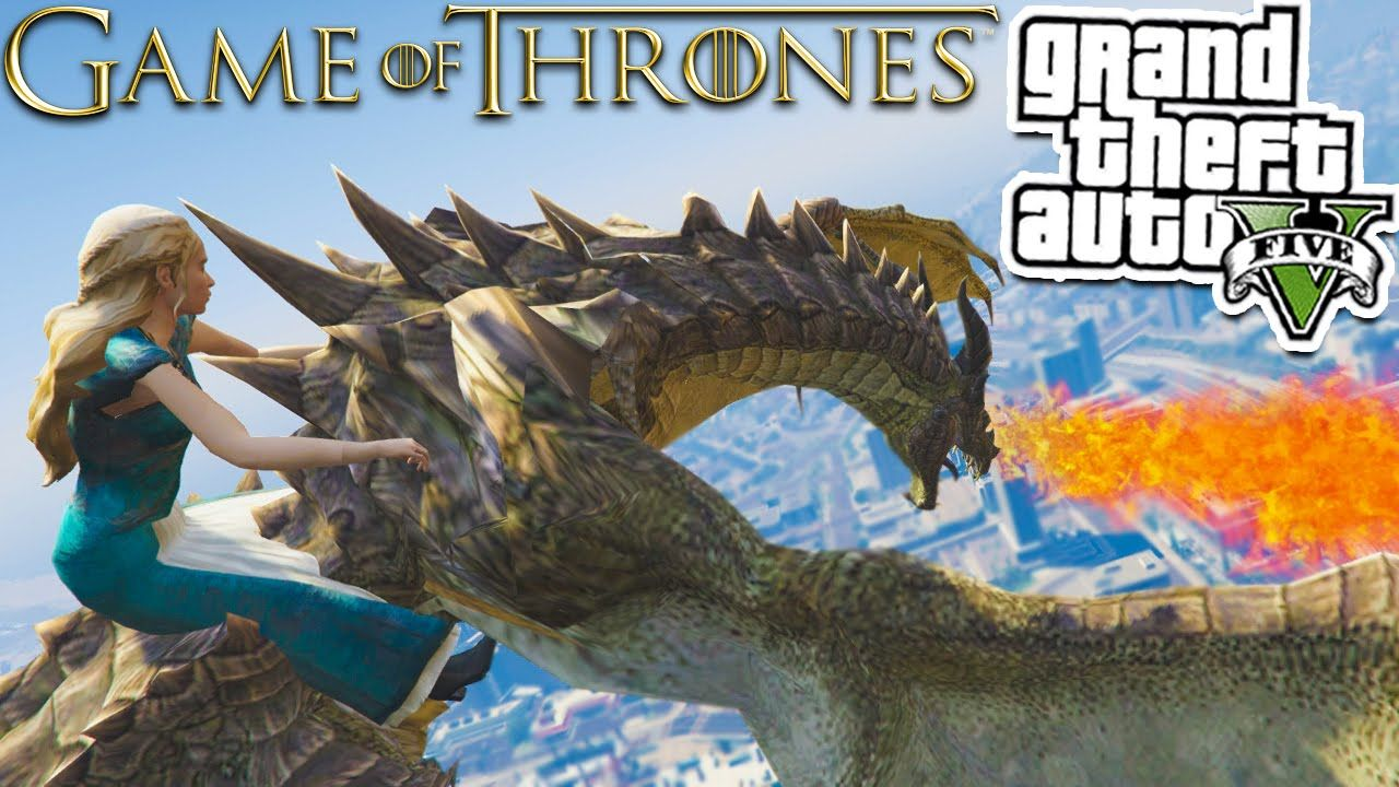 GTA 5: GAME OF THRONES + DRAGONS MOD! | GTA 5 Mods Gameplay