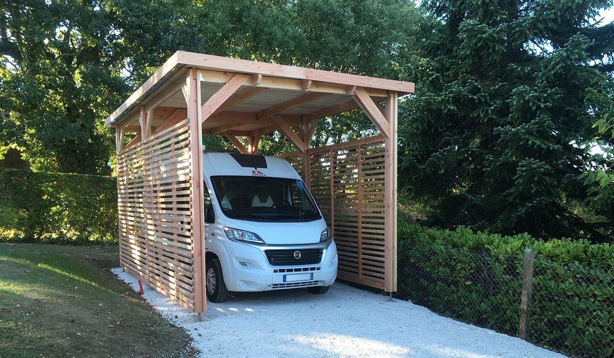Abri structure BOIS camping car toit plat sans deb (avec
