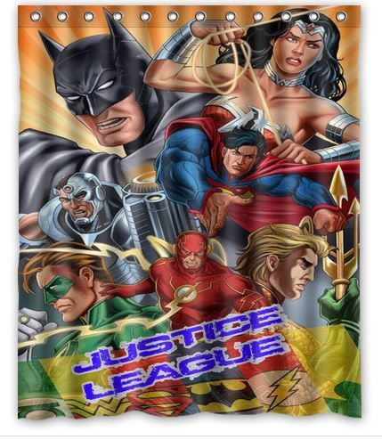 Its Justice League Superhero Shower Curtain Superhero Shower