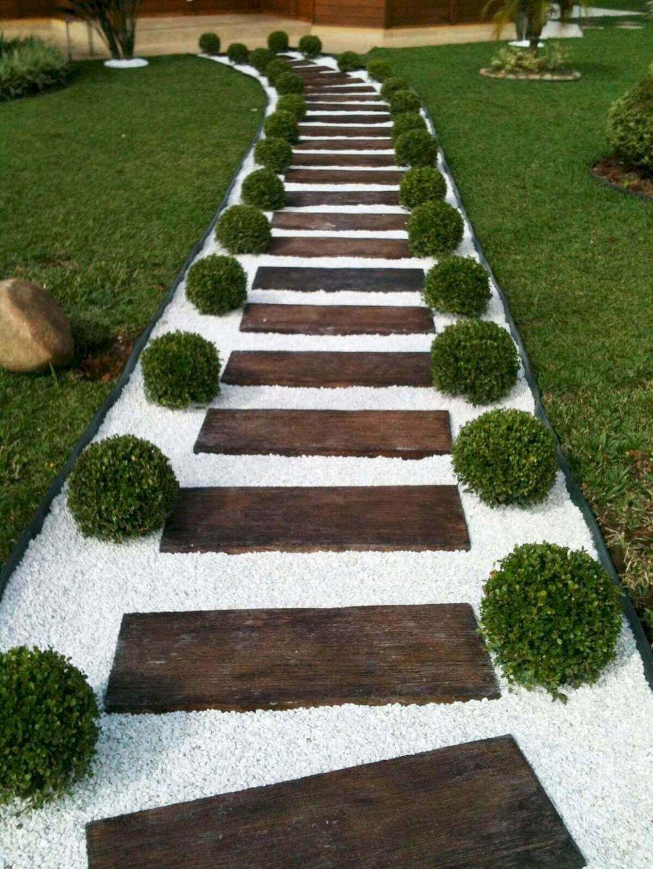 Cool Garden Wooden Pathways That Look Blending With Nature Part 21 Https Elonahome Com Minimalist Garden Backyard Landscaping Designs Backyard Landscaping