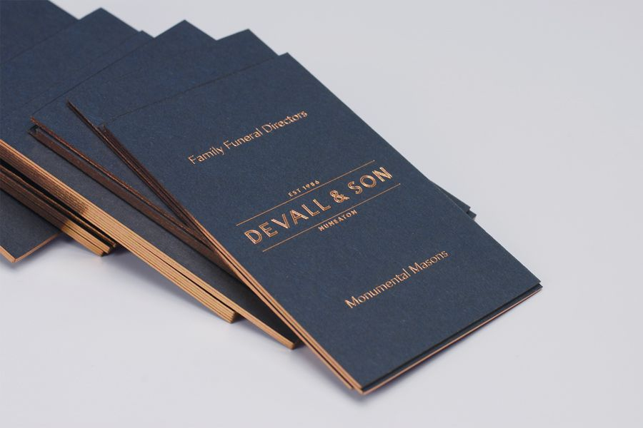 New Brand Identity For Devall Son By Parent Bp O Funeral Directors Business Cards And Funeral