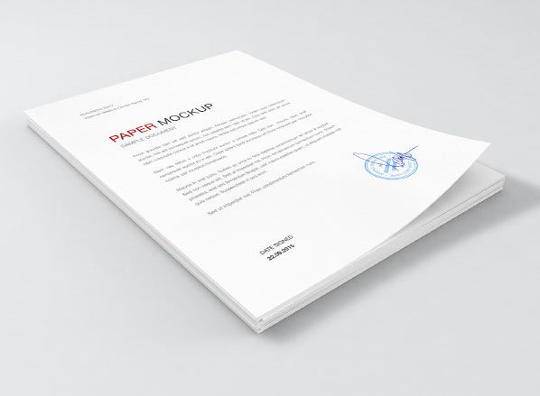 Collection Of Paper Mockups PSD