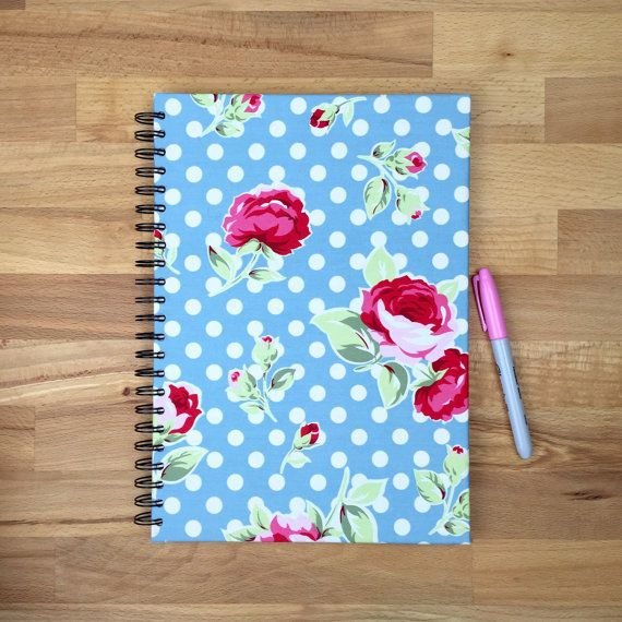 A4 floral journal notebook with lined paper by Hertsdale on Etsy - lined paper with picture