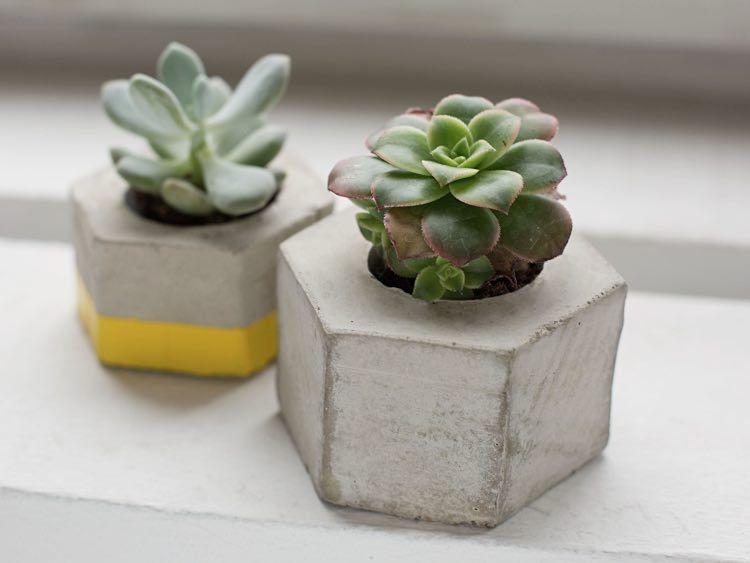 Diy Anleitung Hexagon Form Fur Beton Blumentopf Selber Machen Via