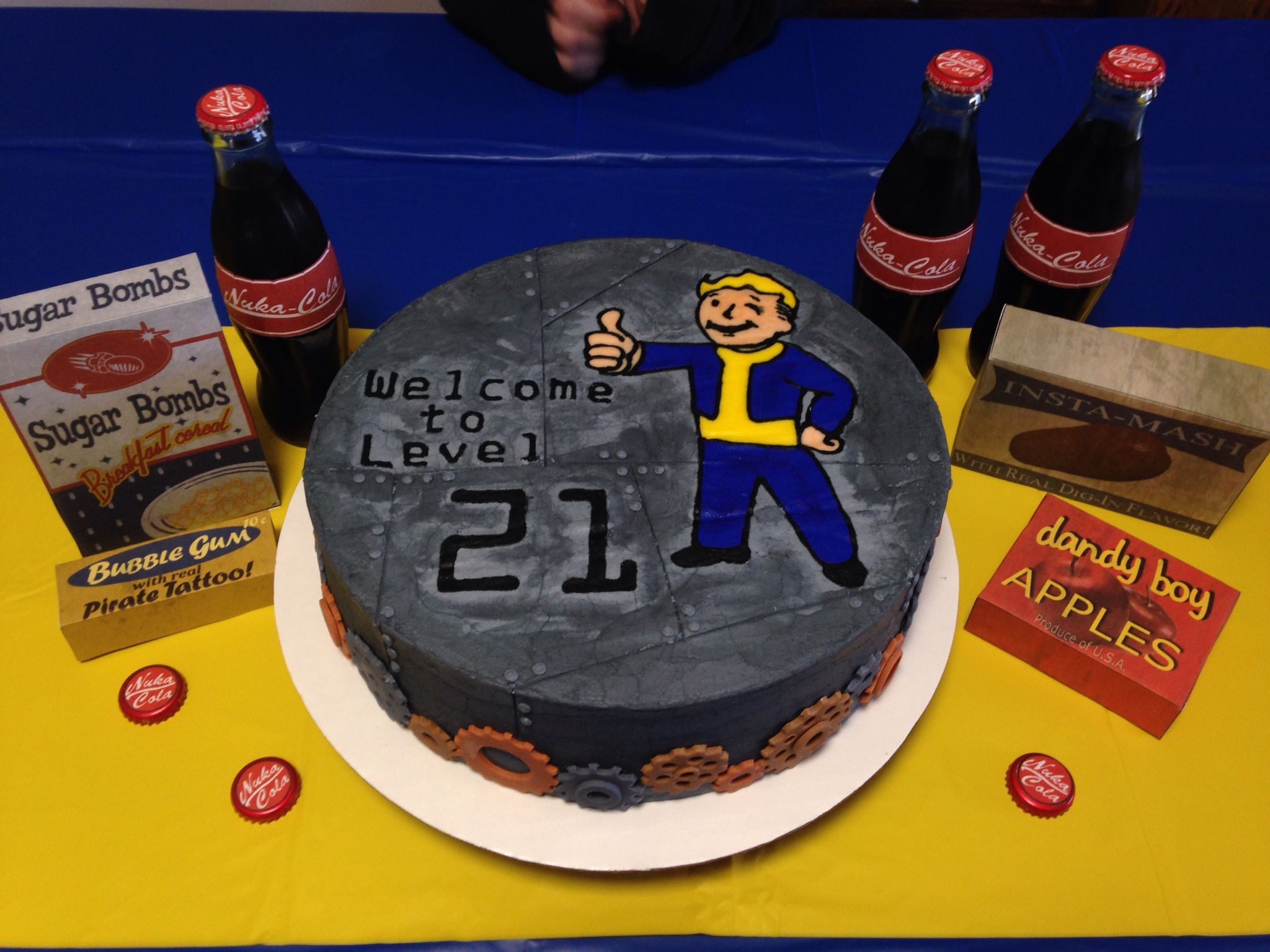 Fallout Birthday Cake Buttercream Fondant Cake Snickers