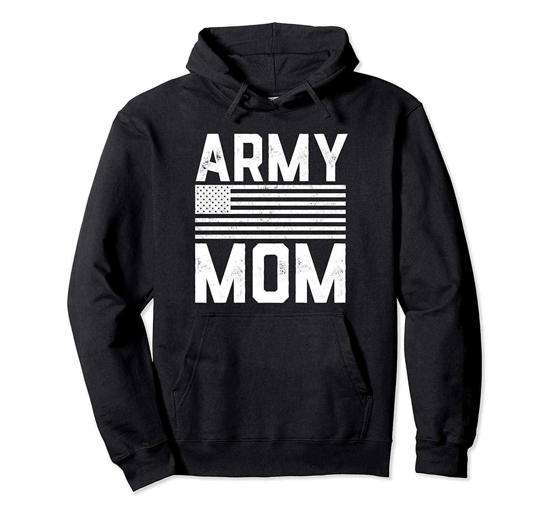 Army Mom American Flag Pullover Hoodie Hoodies, Funny