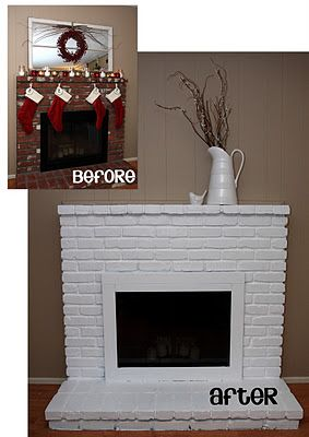 Painted Brick Fireplace Yellow Bliss Road Painted Brick Fireplace Brick Fireplace Painted Brick