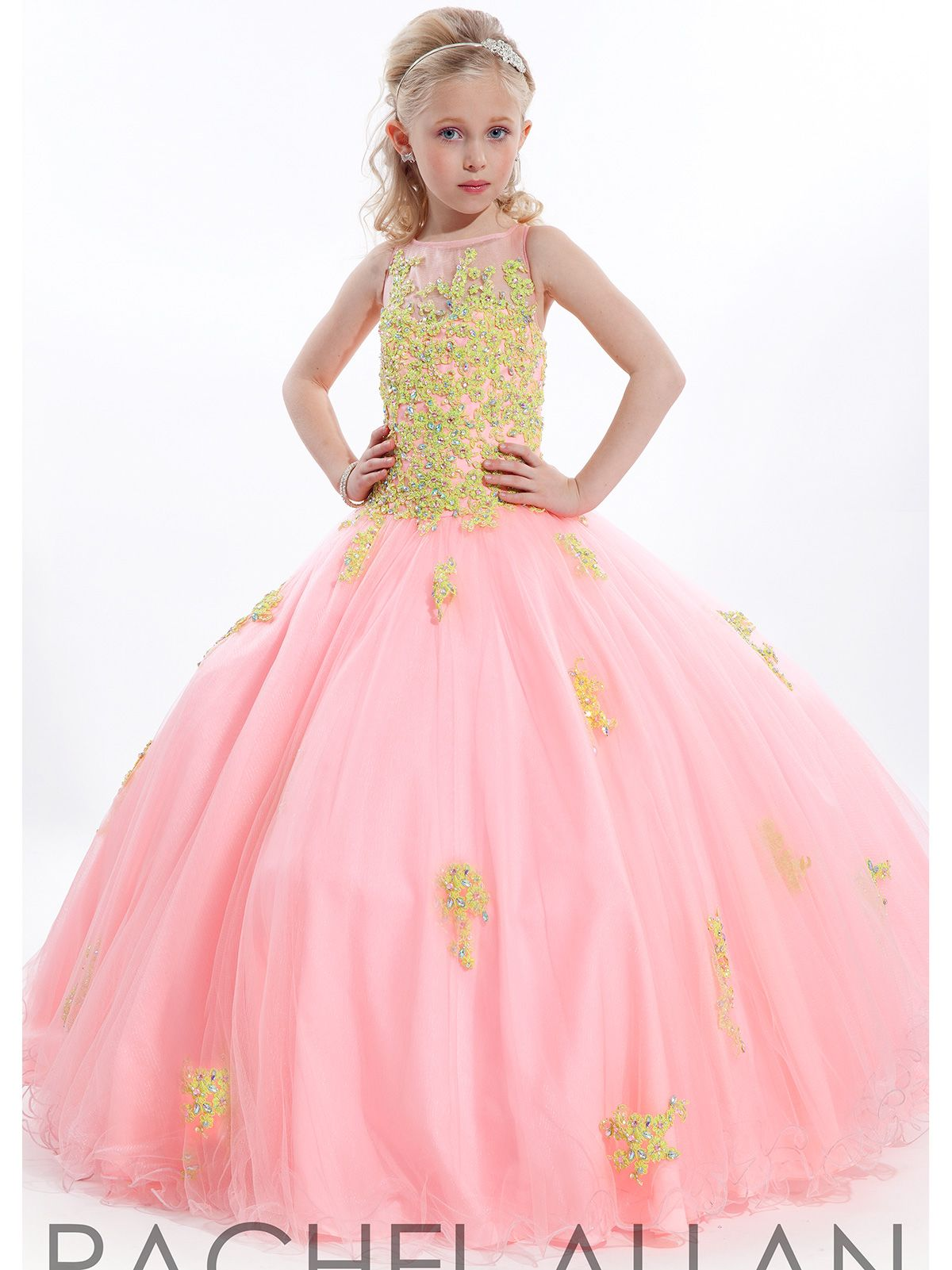 This Stunning Perfect Angel Girls Pageant Dress By Rachel