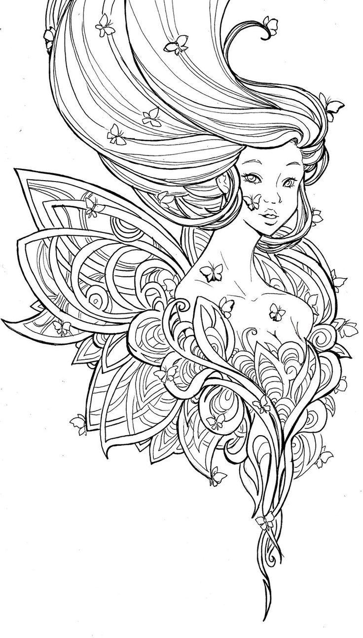Metamorphosis By Namtia Deviantart Fairy Coloring Pages Coloring Pages Monkey Coloring Pages