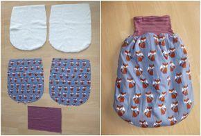 Nähanleitung für einen Strampelsack #baby