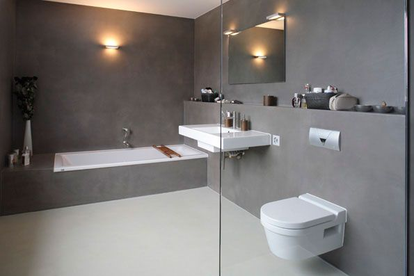 Beton Cire Tegels : Met beton ciré creeër je eindelijk badkamer zónder tegels beton