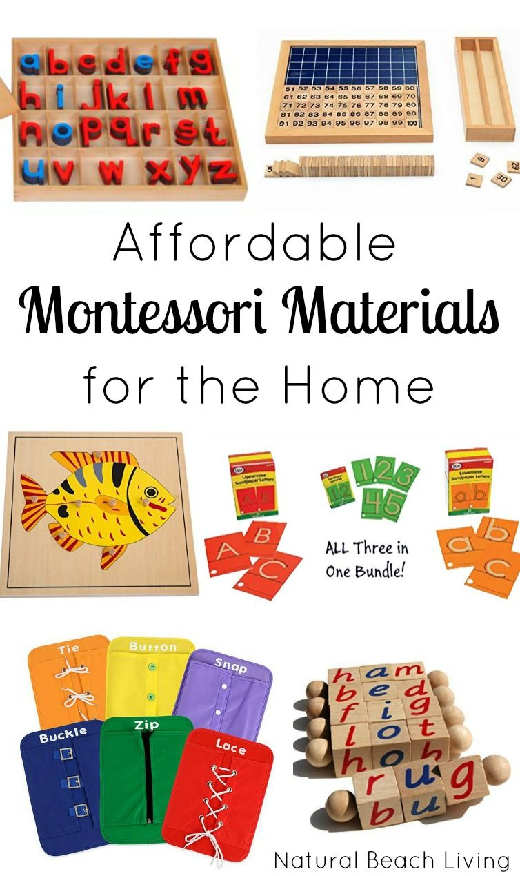 Great Montessori Materials That Are Easy On Your Budget | Pinterest ...