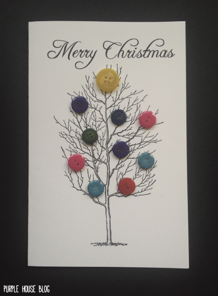 Button Cards 3 01 Christmas Card Template Stamped Christmas Cards Christmas Card Templates Free
