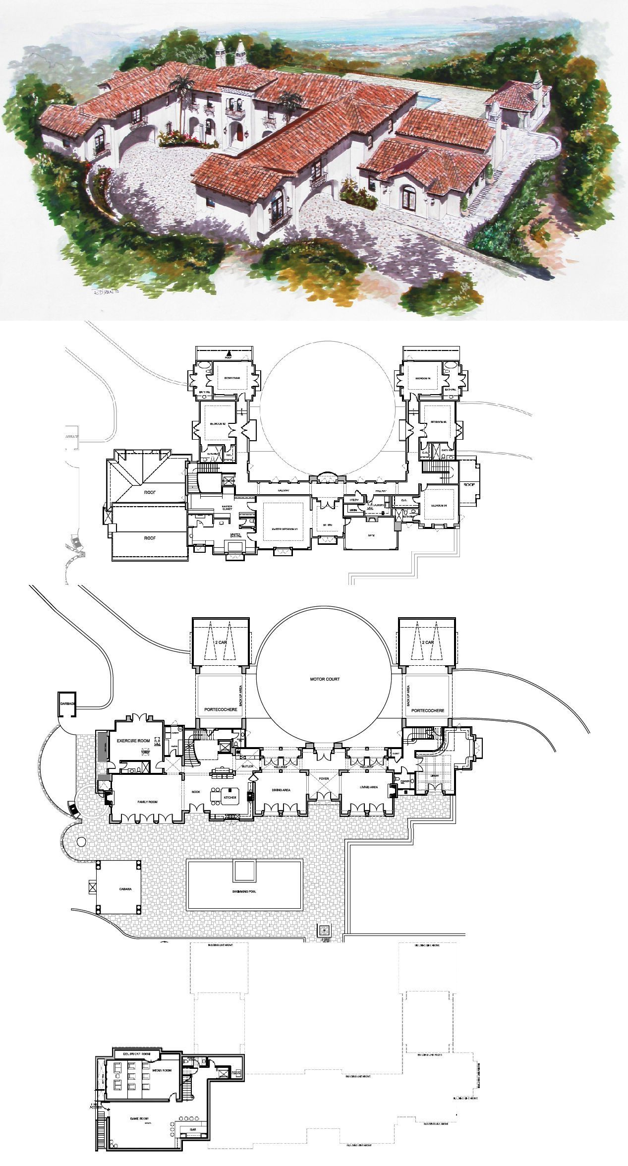 Spanish Style Estate To Be Built In Hillsborough Ca Spanish Style Homes Mansion Floor Plan Mansion Plans