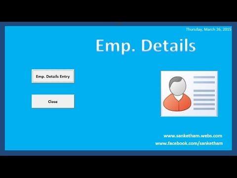 How To Create A Simple Database In Excel Vba Excel Macros Excel Create