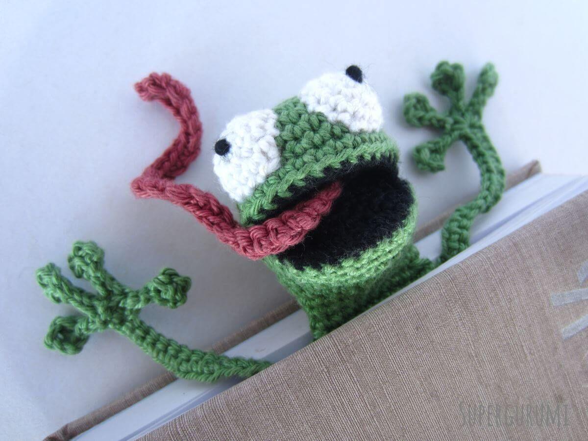Amigurumi Crochet Frog Bookmark | Crochet | Pinterest | Lesezeichen ...
