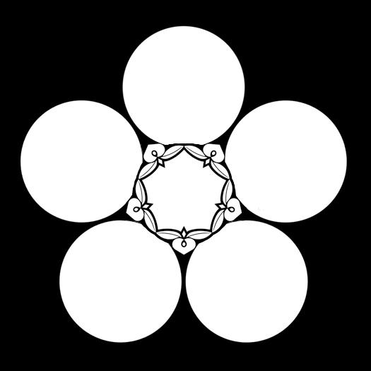 五つ藤重ね星梅鉢 いつつふじがさね ほしうめばち Itsutsu Fujigasane