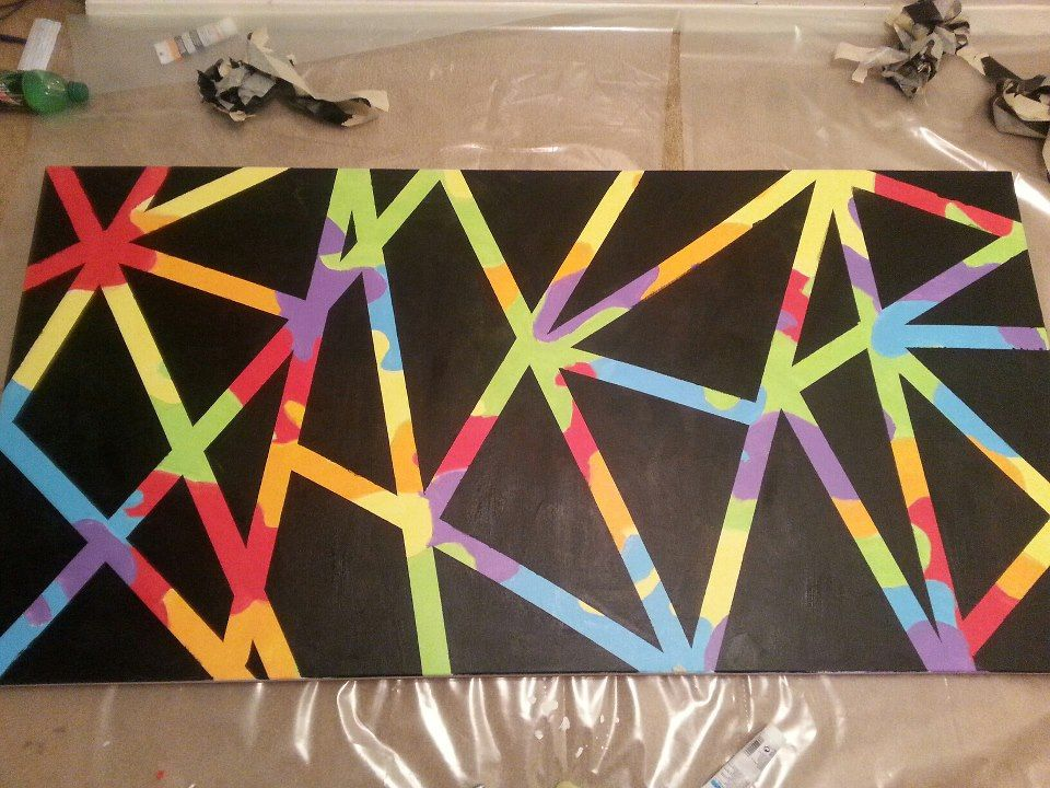 Painters Tape Pattern Painting Google Search Art Inspiration - Tape painting